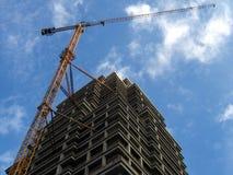 кран здания высокий Стоковое Изображение