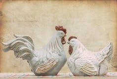 Кран и курица стоковая фотография
