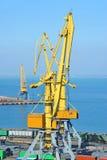 Кран и металл груза порта Стоковые Фото