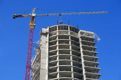 Кран и небоскреб Стоковое фото RF