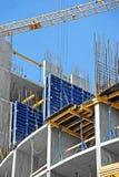 Кран и строительная площадка Стоковые Изображения RF