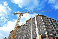 Кран и строительная площадка Стоковые Фотографии RF