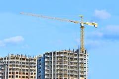 Кран и строительная площадка Стоковое Изображение RF
