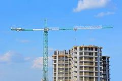 Кран и строительная площадка Стоковое Изображение