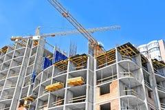 Кран и строительная площадка Стоковая Фотография