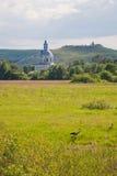 Кран и церковь Стоковые Фотографии RF