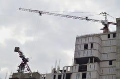 кран конструкции здания вниз Стоковые Изображения RF