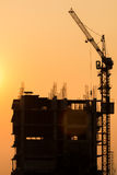 кран конструкции здания Стоковое фото RF