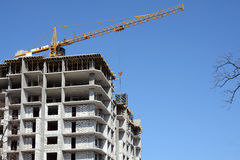 Кран конструкции и здание Кран здания Стоковые Фото