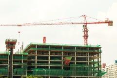 Кран конструкции на высоком подъеме Стоковые Фото