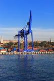Кран контейнера стоковые фотографии rf