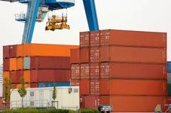 кран контейнера Стоковые Фото