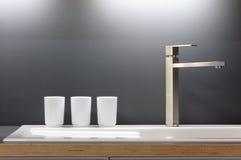 кран кухни самомоднейший Стоковое фото RF