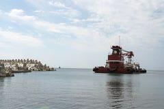 Кран, море, стоковое изображение
