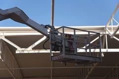 Кран на строительной площадке Стоковое Фото