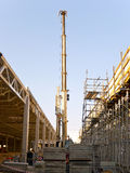 Кран на строительной площадке Стоковое Изображение RF