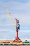 Кран на стыковке груза Стоковые Фото