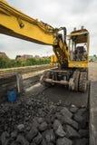Кран работы угля Стоковое Фото