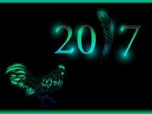 кран Счастливый Новый Год 2017 Вектор EPS 10 Стоковое фото RF
