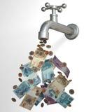 Кран 3D наличных денег иллюстрация штока