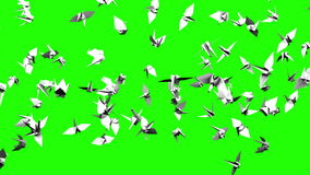 Кран Origami на зеленом ключе Chroma иллюстрация штока