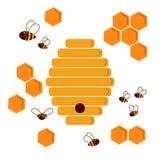 Крапивница пчелы значка Struct меда шестиугольника естественное Стоковая Фотография