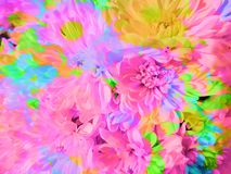 Красивая абстрактная предпосылка лепестка цветка иллюстрация вектора