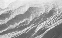 Красивая абстрактная предпосылка снега Стоковая Фотография RF