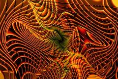 Красивая абстрактная психоделическая предпосылка с фракталями в оранжевом цвете бесплатная иллюстрация