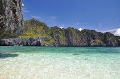 Красивая лагуна около El Nido - Palawan, Филиппин Стоковое Изображение RF