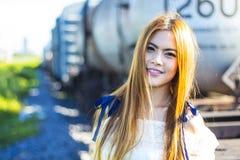 Красивая азиатская женщина Стоковая Фотография RF