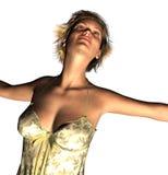 Красивая дама в 3d Стоковые Фото