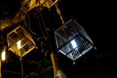 Красивая лампа клетки птицы Стоковые Изображения RF