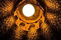Красивая лампа от плетеного бамбука Стоковое фото RF