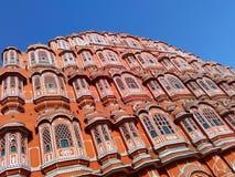 Красивая архитектура дворца ветра, Джайпура, Раджастхана, Индии Стоковое Изображение RF