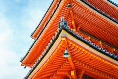 Красивая архитектура в виске Киото Kiyomizu-dera, Японии Стоковые Фотографии RF