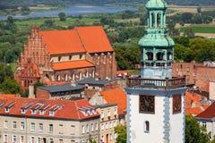 Красивая архитектура городка Chelmno стоковые изображения