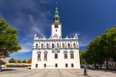 Красивая архитектура городка Chelmno стоковая фотография rf