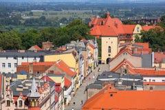 Красивая архитектура городка Chelmno стоковое изображение