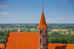 Красивая архитектура городка Chelmno стоковое изображение rf