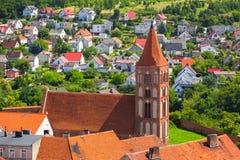 Красивая архитектура городка Chelmno стоковая фотография