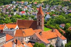 Красивая архитектура городка Chelmno стоковые фото