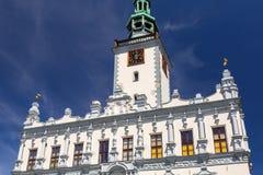 Красивая архитектура городка Chelmno стоковое фото