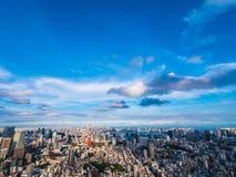 Красивая архитектура и здание вокруг города токио с токио Стоковое фото RF