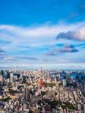 Красивая архитектура и здание вокруг города токио с токио Стоковое Фото