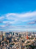 Красивая архитектура и здание вокруг города токио с токио Стоковые Фото