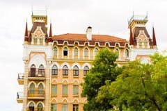 красивая архитектура коттеджа сказки Стоковая Фотография