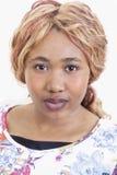 Красивая африканская молодая женщина Стоковое Изображение