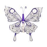 Красивая бабочка сделанная в quilling методе Искусство бумаги ручного черпания стоковое фото rf