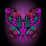Красивая бабочка утюга иллюстрация штока